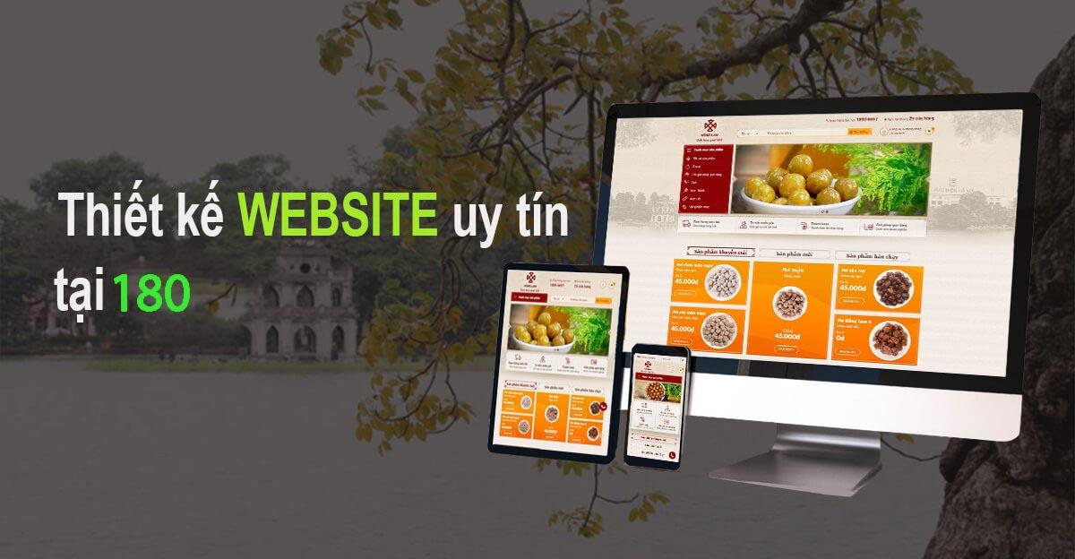 Dịch vụ thiết kế website theo yêu cầu tại 180
