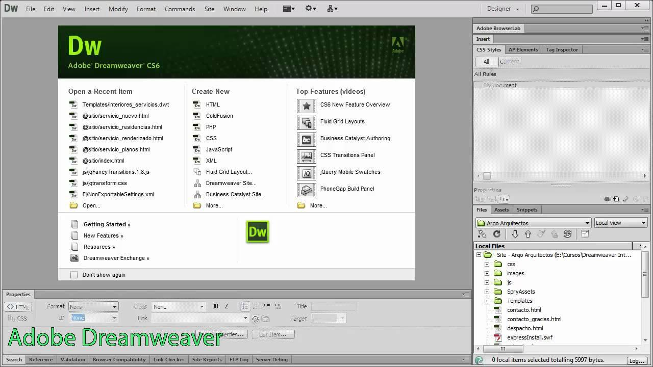 Tính năng làm web của phần mềm Adobe dreamweaver