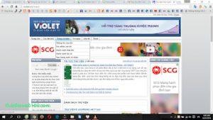 Tạo web miễn phí trên violet quản trị menu