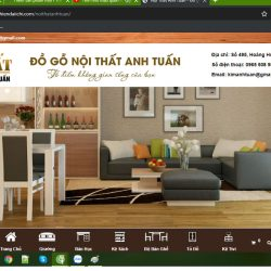 Mẫu website bán đồ nội thất TKW241