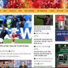 Mẫu website tin tức bóng đá TKW245