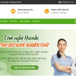 Mẫu website tinh bột nghệ TKW248