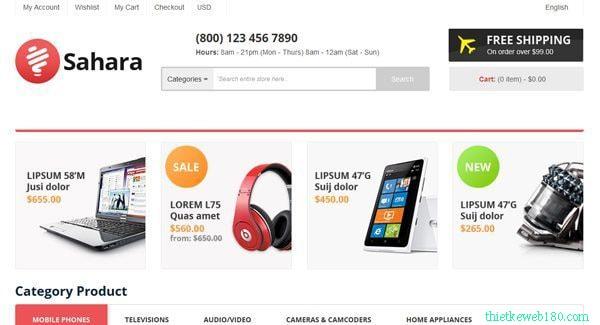Nền tảng tạo web bán hàng ecommerce PrestaShop
