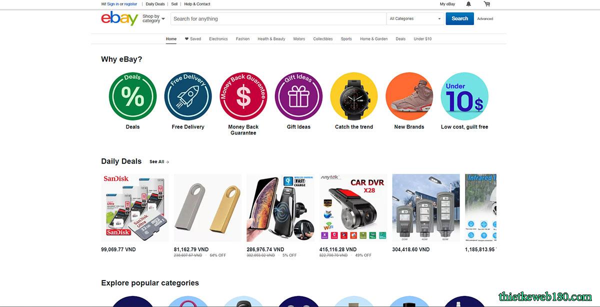 Ebay - TrangWeb Bán Hàng OnlineNổi Tiếng Thế Giới