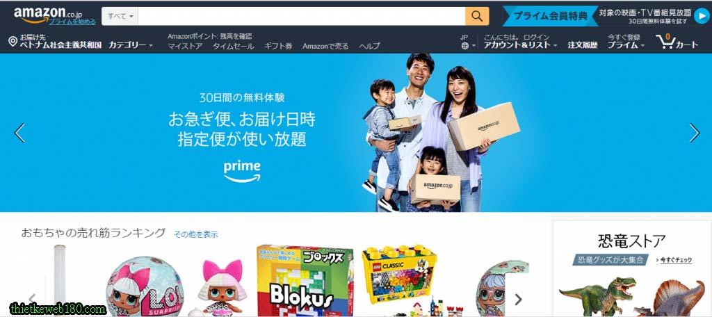 Những web bán hàng secondhand - Amazon.co.jp