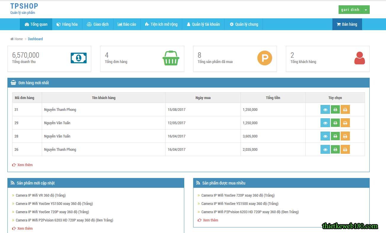 Web bán hàng sharecode