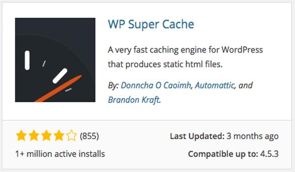 Cài đặt plugin WP Super Cache