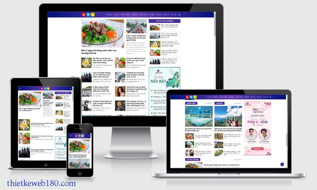 Cách làm 1 trang web tin tức - Themes wordpress tin tức