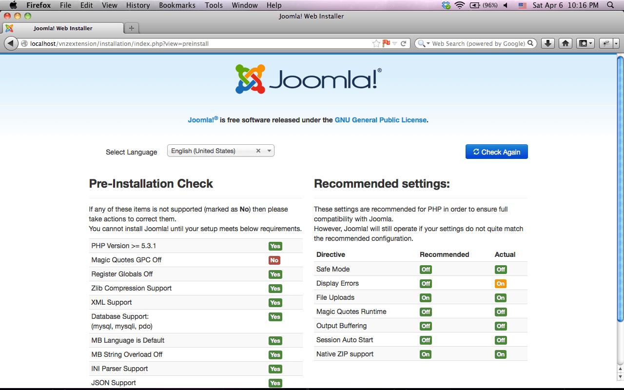 Hướng dẫn làm web bằng joomla 3.0 - Cài đặt