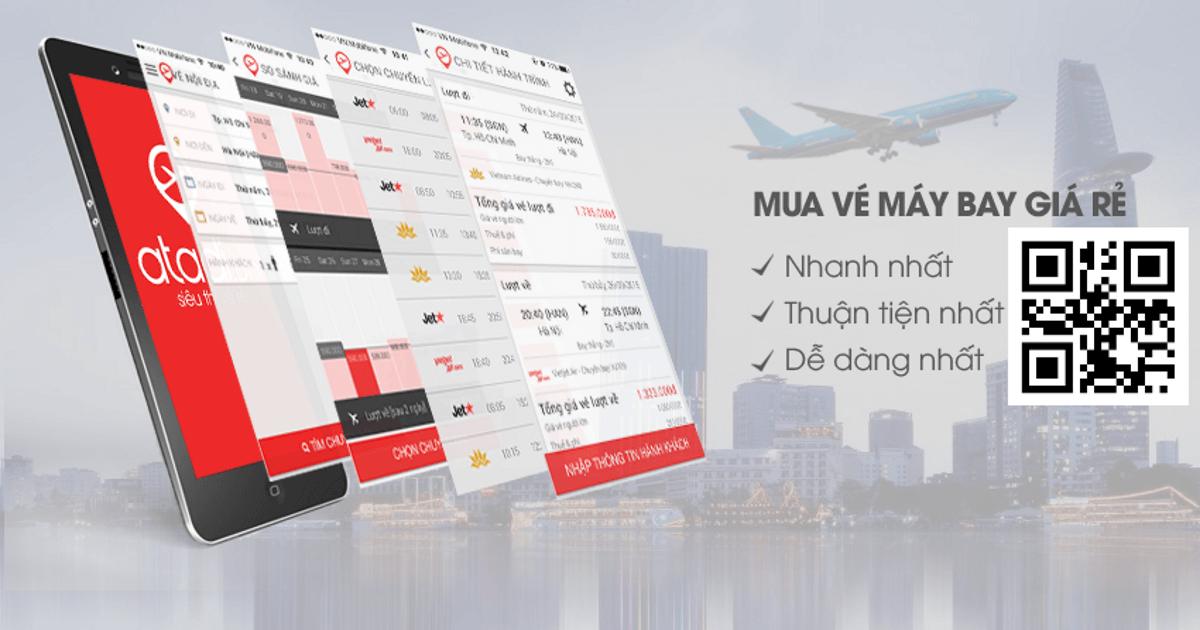 Trang web đặt vé máy bay - Atadi.vn