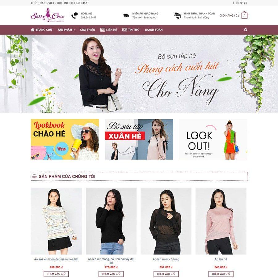 Web thời trang đẹp