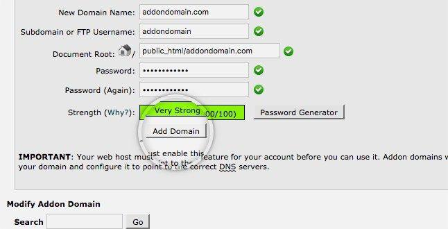 Đặc điểm Add on domain